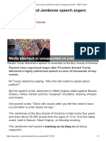 Trump Boy Scout Jamboree Speech Angers Parents - BBC News