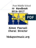 hb dupont choir handbook 16-17