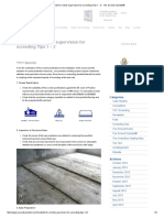 Checklist for onsite supervision for screeding Tips 1 - 3 - The Screed Scientist®