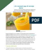 Beneficios de Consumir Jugo de Naranja Diario