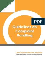 Binder Complaint Handling