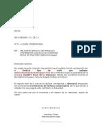 Carta de Reclamacion