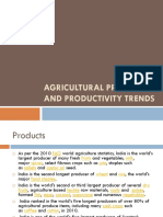 Agricultural Product and Productivity Trends