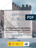 Accesibilidad Universal Al Patrimonio Cultura, Fundamentos, Criterios y Pautas