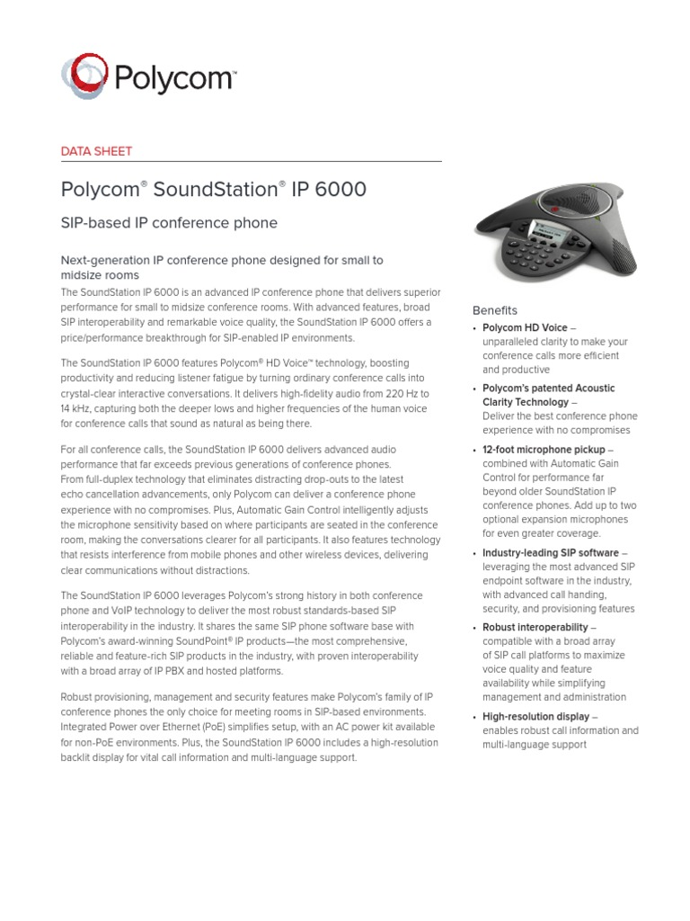soundstation-ip-6000-ds-enus pdf | Telephone | Session