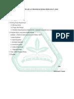 Format Pengajuan Program Kerja Himadata 2016
