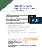 Calentamento, Calor, Temperatura y Su Impacto en La Naturaleza (Autoguardado)