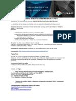 Folleto - Curso Diseño de Estructuras Metálicas - Perú