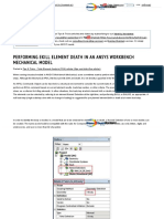 FEA Tips & Tricks Performing EKILL Element Death in ANSYS Workbench