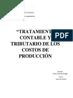 Tratamiento Contable y Tributario de Los Costos de Produccion
