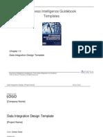 BIGuidebook Templates - BI Logical Data Model - Data Integration Design