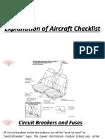 Explanation of Aircraft Checklist