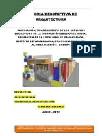 memoria Descriptiva Arquitectura Cei Primavera