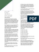 Mathematics Questionnaire