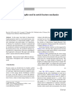 2014 Pluvinage_On Characteristics Lengths Used in Notch Fracture Mechanics,IJF