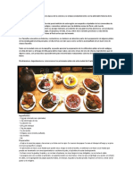 La Gastronomía Tacneña Data de La Época de La Colonia y Se Enlaza Constantemente Con La Admirable Historia de La Ciudad Sureña Del Caplina