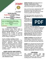 Moraga Rotary Newsletter 7 11 17