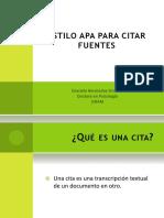 Formato APA - Citas Texto