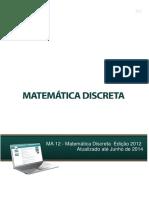 235410713 MA12 Matematica Discreta Ed 2012 Atualizado Junho 2014