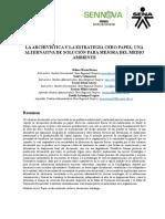 La Archivística y La Estrategia Cero Papel, Una Alternativa de Solución Para Mejora Del Medio Ambiente