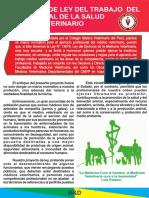 Proyecto de Ley Del Trabajo Del Medico Veterinario 1
