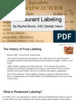 restaurant labeling presentation