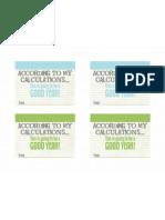 Calculations Sheet