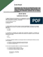Examen Test Bolsa Oficial 1ª Respuestas Correctas