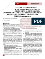 Articol Analiza Situatiei Ingrijiri Paliative Romania 2014-2016