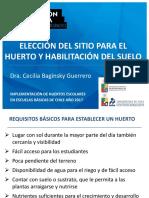 Elección Del Sitio Para El Huerto y Habilitación Del Suelo 24052017