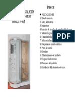 Manual Cabina Sauna Artica F 819