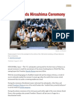 U.S. Attends Hiroshima Ceremony