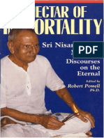 The Nectar of Immortality Sri Nisargadatta Maharaj Discourses on the Eternal