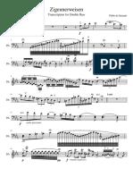 Zigeunerweisen Double Bass