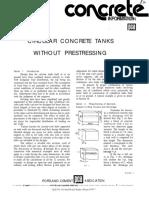 Circular Concrete Tanks Without Prestressing