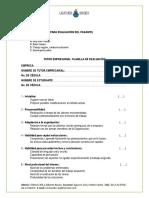 Planilla de Evaluación