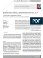 Bio-electrochemical treatment of distillery wastewater in microbial fuel cell facilitating decolorization and desalination along with power generation.pdf