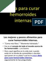 Dieta Para Curar Hemorroides Internas