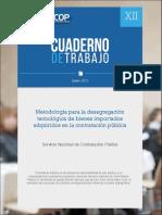 Xii Metodologia Desagregacion Tecnologica Bienes Importados Adquiridos Contratacion Publica