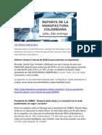 Reporte de la manufactura Colombiana Julio 2017, 2da Entrega