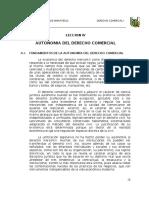 Autonomia Del Derecho Comercial en El Peru