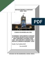 Proyecto Defortalec de Capacidades de Los Centros Poblados - Quispicanchi
