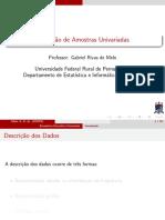 Introdução a Estatística - Descri Uni
