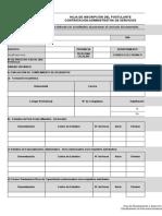 Hoja de Inscripcción Del Postulante CAS 26-29-2017