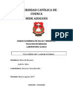 Valores de Laboratorio Clinico