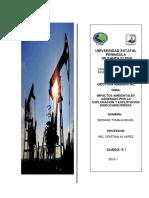 Impactos Ambientales en La Industria Petrolera