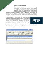 Barra en Procesadores de Palabra Textos Mery Luz