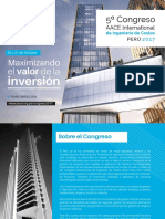 Brochure Congreso Ingenieria de Costos 2017