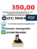 Monografia & tcc por R$350,00 na cidade de  Gravataí
