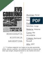 Monografia dictadura